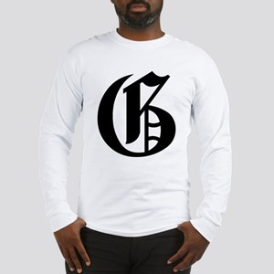 "Letter ""G"" (Gothic Initial) Long Sleeve T-Shirt"
