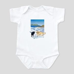 Playful Dogs On Beach Infant Bodysuit