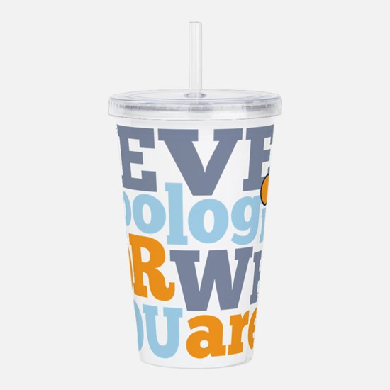 never apologize for wh Acrylic Double-wall Tumbler