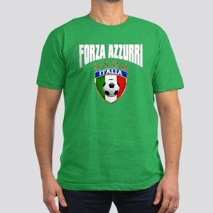 Forza Azzurri 2012 Men's Fitted T-Shirt (dark)