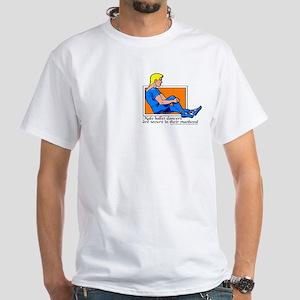 Male Ballerina, funny White T-Shirt