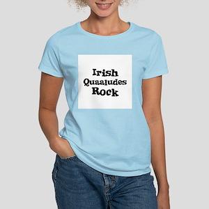 Irish Quaaludes Rock Women's Pink T-Shirt