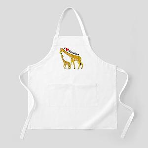 I Love Giraffes Apron