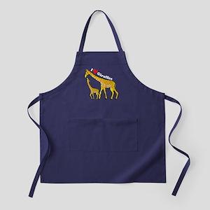 I Love Giraffes Apron (dark)