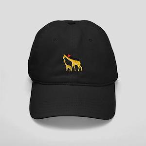 I Love Giraffes Black Cap