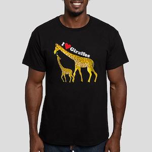 I Love Giraffes Men's Fitted T-Shirt (dark)