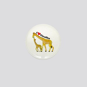 I Love Giraffes Mini Button