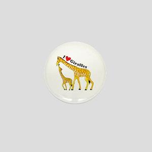 I Love Giraffes Mini Button