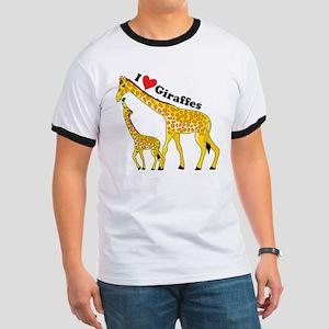 I Love Giraffes Ringer T