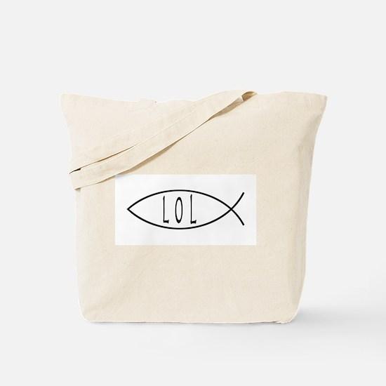 LOL Jesus Fish Tote Bag