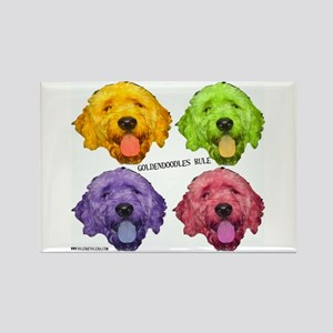 Goldendoodles Rule Rectangle Magnet