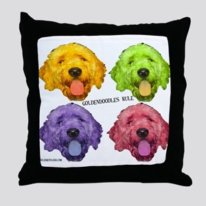 Goldendoodles Rule Throw Pillow