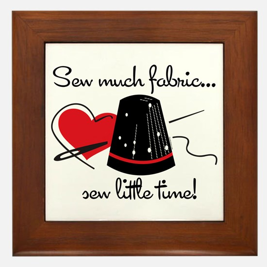 Sew Much Fabric Framed Tile