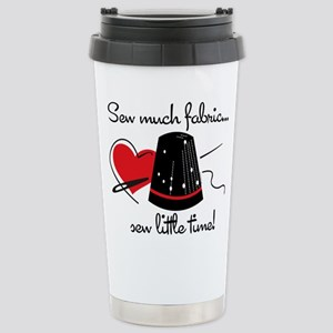 Sew Much Fabric Stainless Steel Travel Mug