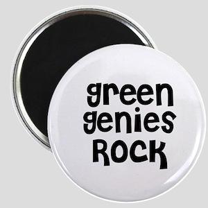 Green Genies Rock Magnet