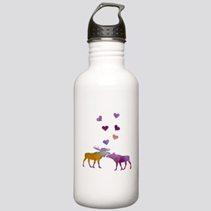 Moose Couple Stainless Water Bottle 1.0L