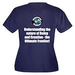 Ultimate Fro Women's Plus Size V-Neck Dark T-Shirt