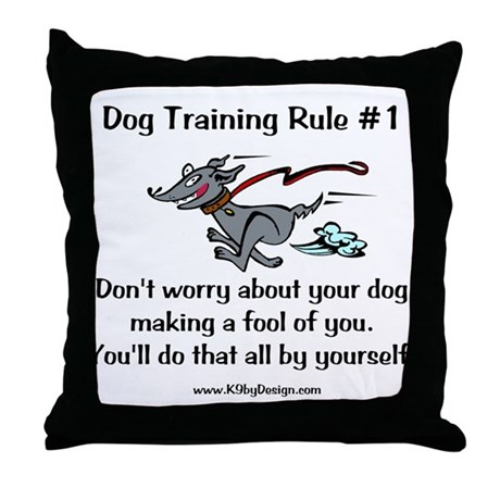 Trainer Fool Throw Pillow