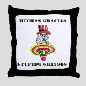 gringo welfare Throw Pillow