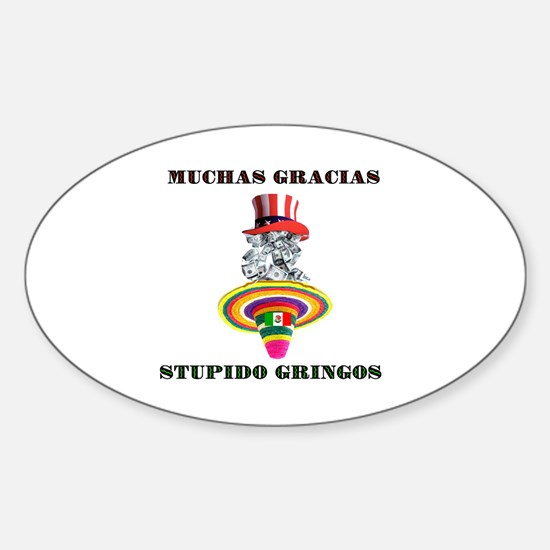 gringo welfare Sticker (Oval)