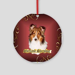 Shetland Sheepdog-Sheltie Ornament (Round)