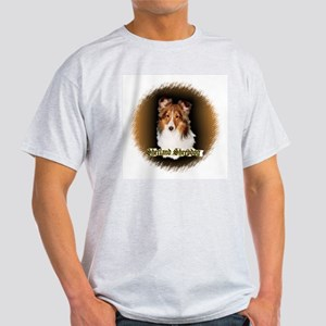Shetland Sheepdog-Sheltie Ash Grey T-Shirt