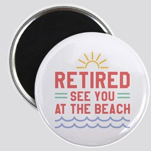 Retired See You At The Beach Magnet