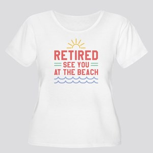 Retired See You At The Beach Women's Plus Size Sco