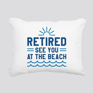 Retired See You At The Beach Rectangular Canvas Pi