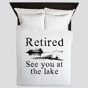 Retired See You At The Lake Queen Duvet