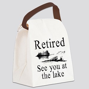 Retired See You At The Lake Canvas Lunch Bag