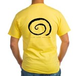 Live-Life-Well Yellow T-Shirt