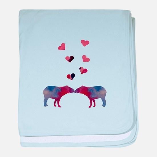 Lovely Tapirs baby blanket