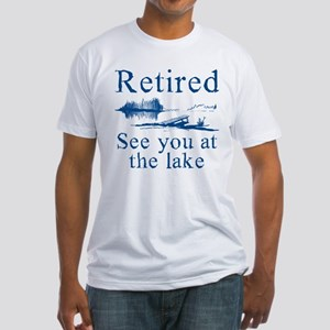 Retired See You At The Lake Fitted T-Shirt