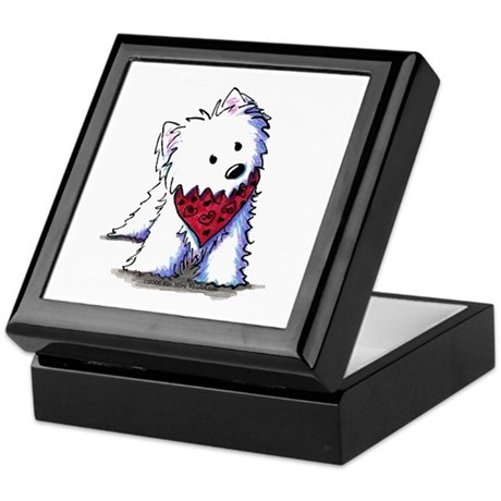 Kissing Bandit Westie Keepsake Box