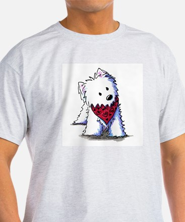 Kissing Bandit Westie Ash Grey T-Shirt