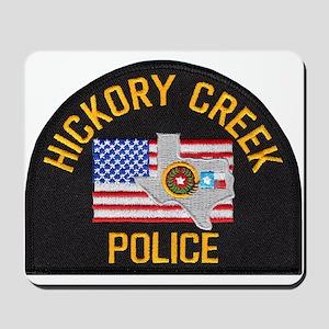 Hickory Creek Police Mousepad