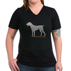 Weimaraner w/Orange Collar Shirt