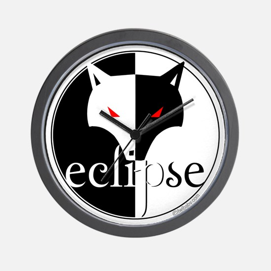 Eclipse Lone Wolf by Twibaby Wall Clock