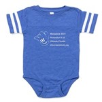 Warpstock Event Baby Football Bodysuit