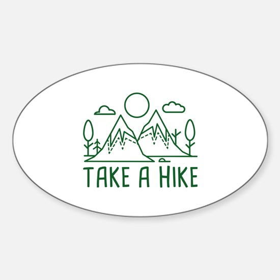 Take A Hike Sticker (Oval)