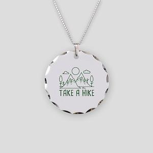 Take A Hike Necklace Circle Charm