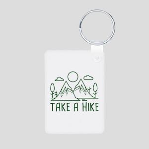 Take A Hike Aluminum Photo Keychain