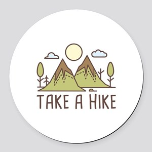 Take A Hike Round Car Magnet