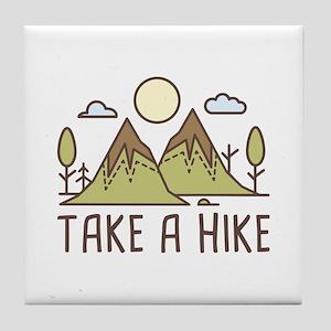 Take A Hike Tile Coaster