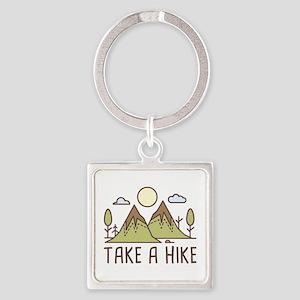 Take A Hike Square Keychain