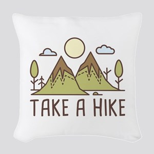 Take A Hike Woven Throw Pillow