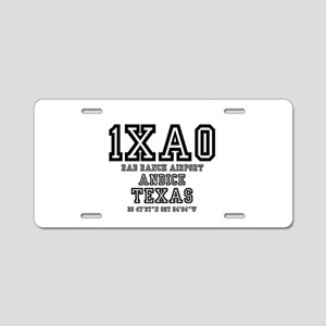 US - TEXAS - AIRFIELD CODES Aluminum License Plate