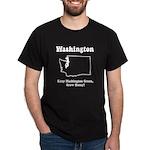 Funny Washington Motto Black T-Shirt