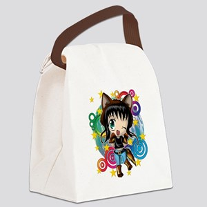 COYOTE GIRL ANIME CHIBI Canvas Lunch Bag